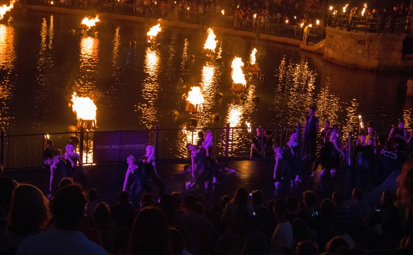 Festival Ballet performs their The C Project program at WaterFire Providence. Photo by Emily Gauvin.
