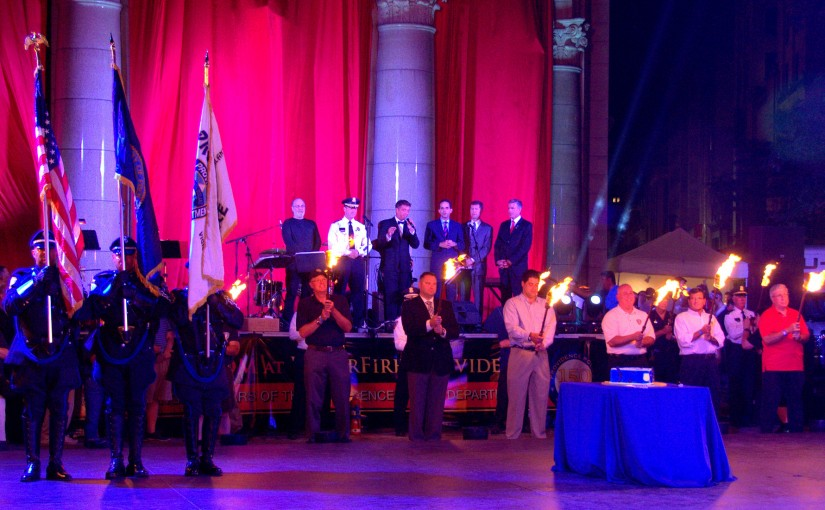 Celebrating 150 of Providence Police Department History at the WaterFire Ballroom. Photo by John Nickerson.