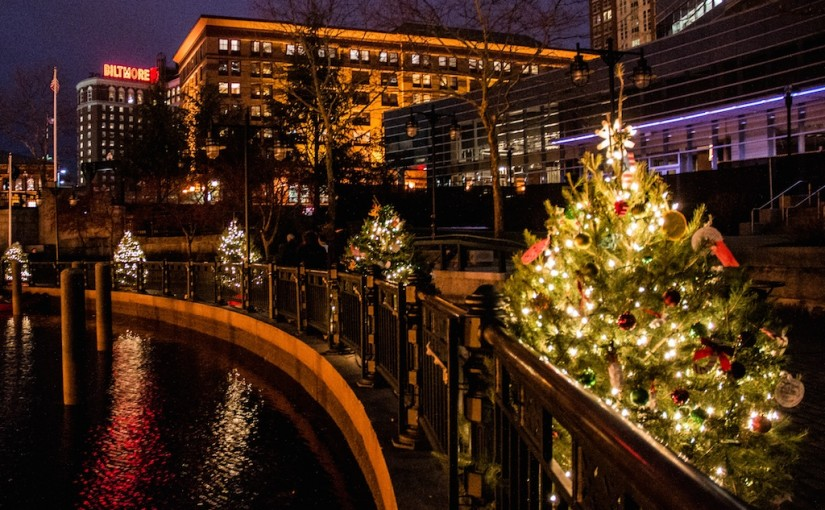 A very special Christmas WaterFire. Photo by Jen Bonin.