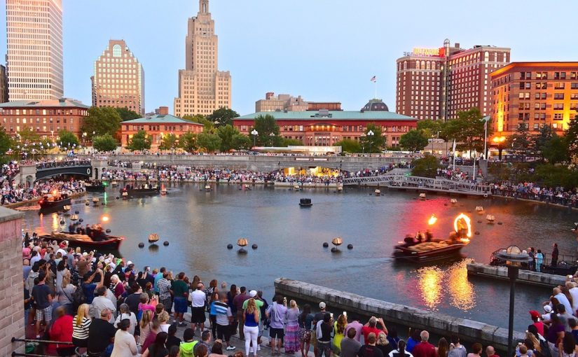 WaterFire Lighting Ceremony, photo by Todd Monjar.