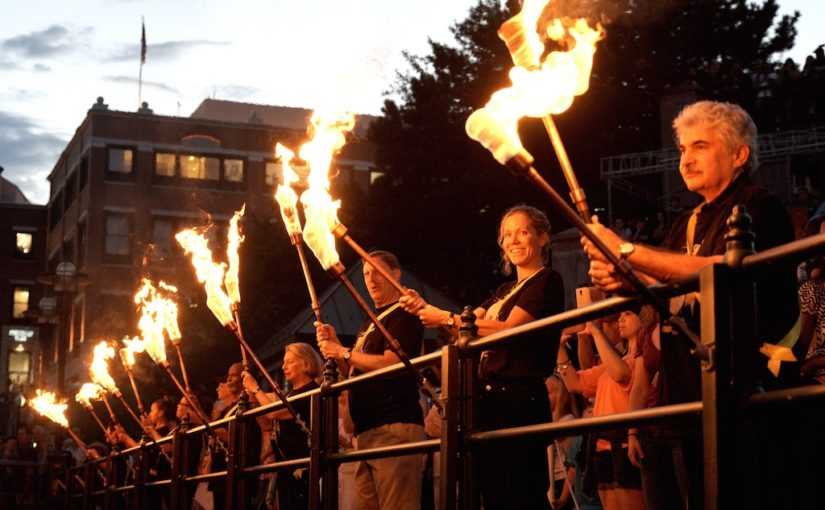 C is For Cure: Hep C WaterFire Lighting | Volunteering at WaterFire Providence