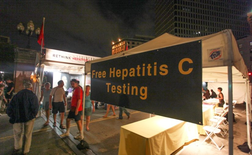 The Rhode Island Defeats Hep C Resource Fair (Photograph by Erin Cuddigan)